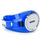 Q7 Outdoor MP3 Megaphone Speaker w/ FM Radio / TF Slot - Deep Blue + Silver