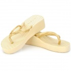 Casual Golden Dot Thickened Sole Slippers for Women - Golden (Pair)