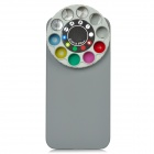 Protective Back Case w/ 10 Special Lenses & Filter Turret for Iphone 5 - Grey