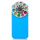 Protective Back Case w/ 10 Special Lenses & Filter Turret Set for Iphone 5 - Blue