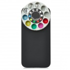 Protective Back Case w/ 10 Special Lenses & Filter Turret Set for iPhone 5 - Black