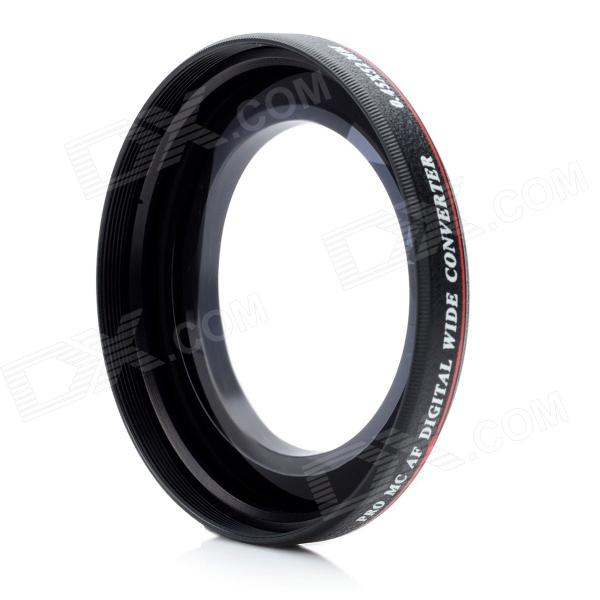 52mm 0.45X Super Thin Wide Angle Conversion Lens - Black 52mm 0 45x pro digital precision camera wide angle conversion lens w macro black