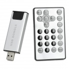 ATSC USB Digital TV Tuner Card Stick Dongle w/ Remote Control for PC / Laptop - Silver
