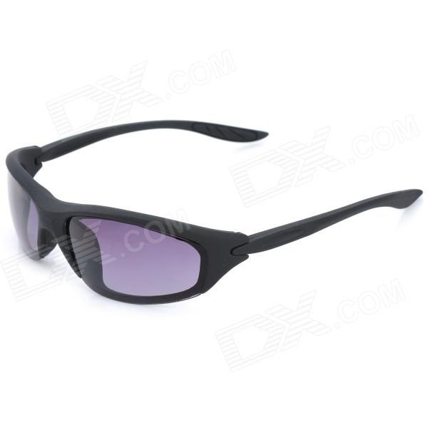 Women's Fashion Resin Lens Sunglasses - Black + Grey