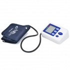 HQ-808 2.5&quot; LCD Digital Automatic Arm Style Blood Pressure Monitor - Blue + White (4 x AA)