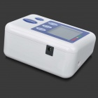 "2.5"" LCD Digital Automatic Arm Style Blood Pressure Monitor - Blue + White (4 x AA)"