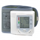 "1.7"" LCD Digital Automatic Wrist Style Blood Pressure Monitor - White (2 x AAA)"