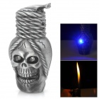 Skull Style Butane Lighter - Silver Gray