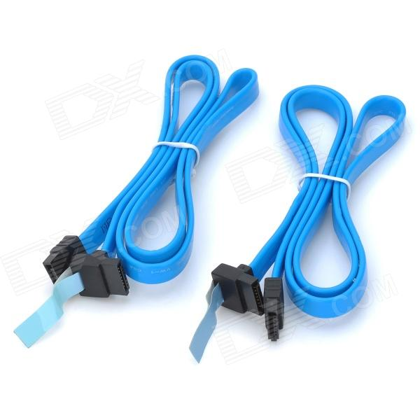 Right Angle to Straight Connector SATA Cables for DELL High-End Server - Blue (70cm / 2PCS) 1pcs serial ata sata 4 pin ide to 2 of 15 hdd power adapter cable hot worldwide