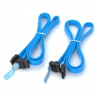 Right Angle to Straight Connector SATA Cables for DELL High-End Server - Blue (70cm / 2PCS)