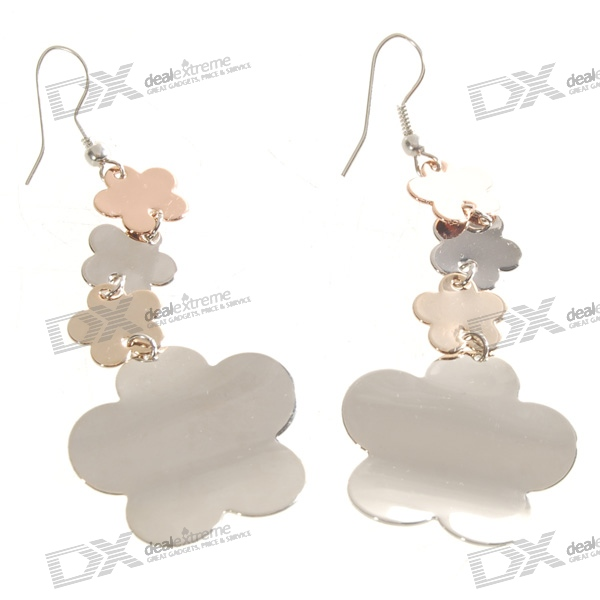 Silver Plated Alloy Charming Earrings (Pair)