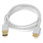 USB 3.0 Male to Micro USB Male Data Cable - White (100cm)