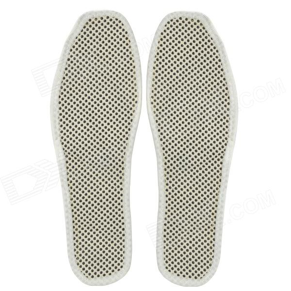 Magnet Warm Cotton Insole - White + Black (Size 44~45 / Pair)