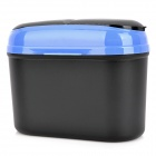 Car Plastic Trash Can Bin- Black + Blue (2.5L)
