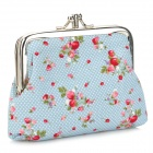 Mini Casual Change Coin Key Purse - Sky Blue
