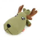 SY004 Cute Auto Car Room Bamboo Charcoal Deer Toy Odor Absorber - Army Green + Dark Brown