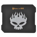 Flame Skull Pattern Mouse Pad - Black + White
