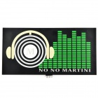 D12103004X EL Car Sound Control Sensor Music Rhythm Sheet Light Lamp Sticker - Black + Green + White