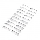 Nylon + Artificial Fiber Natural Straight Fake Eyelashes Set - Black (10 Pairs)