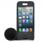 2-in-1 Bike Bicycle Mount Holder Audio Horn Amplifier Protective Case for iPhone 5 - Black