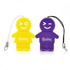 Kaston Cute Boy and Girl Style USB 2.0 TF Card Readers - Purple + Yellow (Pair)