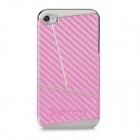 Newtons Three Parties Design Protective PC Back Case for Iphone 4 / 4S - Heather Violet + Silver