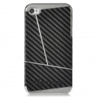 Newtons Geometric Pattern Protective Plastic Back Case for Iphone 4 / 4S - Black + Silver