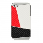 Newtons Contrast Color Design Protective PC Back Case for Iphone 4 / 4S - Red + White + Black
