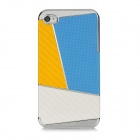 Newtons Contrast Color Design Protective PC Back Case for Iphone 4 / 4S - Yellow + Blue + White