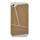 Newtons Geometric Pattern Protective Plastic Back Case for Iphone 4 / 4S - Brown + Silver