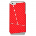 Newtons Geometric Pattern Protective Plastic Back Case for Iphone 5 - Red + Silver