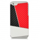 Newtons Contrast Color Design Protective PC Back Case for Iphone 5 - Black + Red + White
