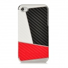 Newtons Geometric Pattern Protective Plastic Back Case for Iphone 4 / 4S - White + Black + Red