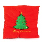 E-warmer Christmas Tree USB Warm Heating Healthy Care Cushion - Red + Green