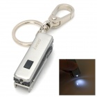 iwoo Multi-Function Cupronickel Tin Alloy Keychain w/ LED / Knife / Scissors / Opener - Silver