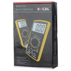 "Excel DT9205A 3"" LCD Digital Multimeter - Black + Orange (1 x 6F22)"