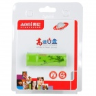 Aoni A621 Stylish Bamboo Pattern USB 2.0 Flash Drive - Green (8GB)