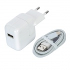White EU AC Charger + Lightning Cable