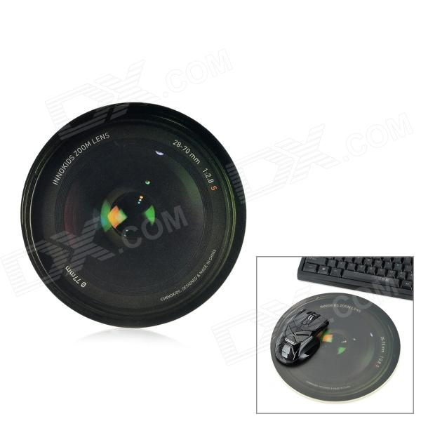 Innokids WL1024 SLR Camera Lens Pattern Matte PVC + Rubber Mouse Pad - Black + Dark Green