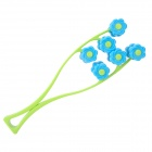 Flower Face Up Roller Massager - Blue + Green