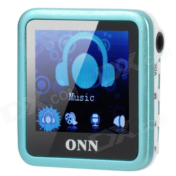 ONN Q6 Mini 1.5 Screen MP3 Player w/ FM / Clip - Blue (4GB) onn q6 mini 1 5 screen mp3 player w fm clip silver 4gb