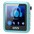 "ONN Q6 Mini 1.5"" Screen MP3 Player w/ FM / Clip - Blue (4GB)"