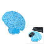 Innokids IM030 Creative Brain Pattern Matte PVC + Rubber Mouse Pad - Blue
