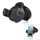 3-in-1 360 Degrees Rotation Car Windshield Swivel Mount Set for iPhone 5 - Black