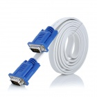 Nickel-Plated VGA Male to Male Connection Cable - White (150cm)