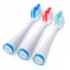 Replacement 3-in-1 Electronic Sonic ABS Toothbrush Heads - White