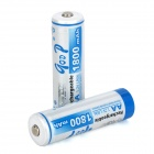GD-AA-2B-3 Rechargeable 1.2V 1800mAh AA NiMH Battery - white + Blue (2 PCS)