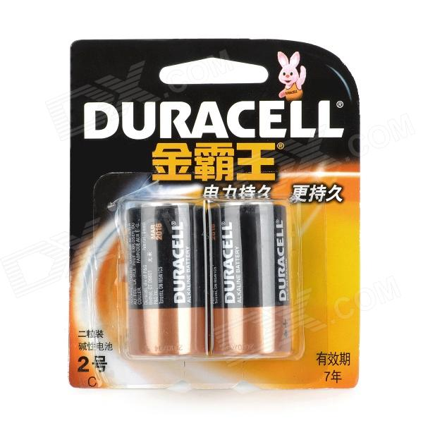 DURACELL 1.5V C-Type MN1400 LR14 Alkaline Battery - Black (2 PCS ...