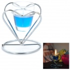 Exquisite Christmas Double-heart Holder Smokeless Candle - Blue