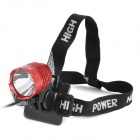 RUSTU D6H Cree XM-L T6 800lm 3-Mode White Light Bicycle Headlamp - Red (4 x 18650)